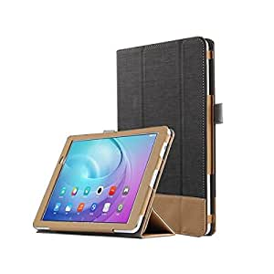 Ake Leather Case Stand Cover Tri-Fold Ultra Slim para Huawei M2 10.1 Youth Edition FDR-A01W A03L