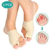 Bunion Corrector Sleeves Relief Bunion Pain for Men and Women, Bunion Pad with Toe Separators for Hallux Valgus Hammer Toe Big Toe Joint, Unti-slip Design, 2 Pcs
