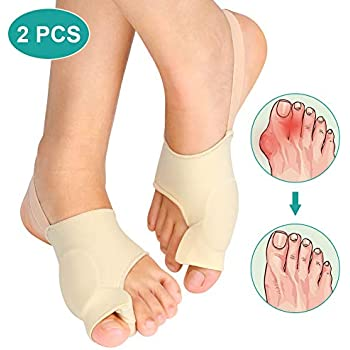 Bunion Corrector Sleeves Relief Bunion Pain for Men and Women, Bunion Pad with Toe Separators for Hallux Valgus Hammer Toe Big Toe Joint, Unti-slip Design, ...