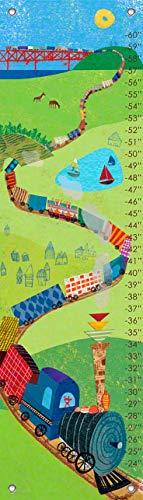 Kids Choo Train - Oopsy Daisy Fine Art for Kids Choo Choo Train Growth Chart by Jenny Kostecki-Shaw, 12 by 42-Inch