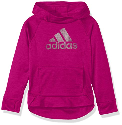 adidas Girls' Big Pullover Sweatshirt, Plum, S (7/8)