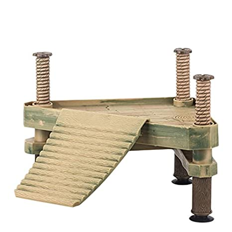 Poity Reptile Turtle Pier Frog Floating Basking Platform Ramp Ladder Tank Decor New S