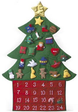 Kubla Crafts Stuffed Oh Christmas Tree Fabric Advent Calendar ()