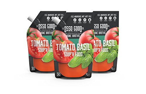 Osso Good - Tomato Basil Soup, Made with Organic Chicken Bone Broth, Paleo Certified, Dairy Free & Gluten Free (6 Count)