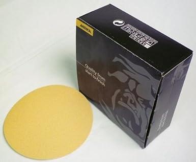 Mirka Bulldog Gold Abrasive Discs 5 Hook And Loop No Hole 120 Grit 50 Count