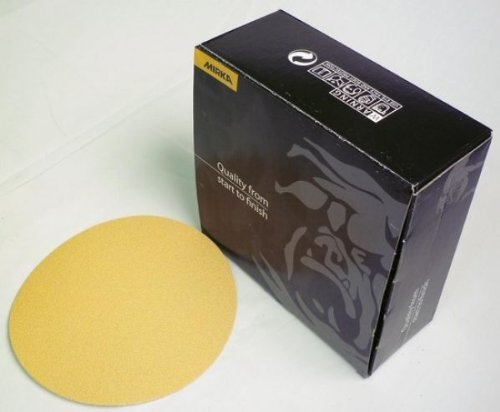 50 Count Mirka Bulldog Gold Abrasive Discs 5 Hook And Loop No Hole 180 Grit