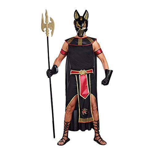 Dreamgirl Men's Anubis God Of The Underworld Costume, Black/Red, Medium