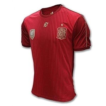 Camiseta Oficial Real Federación Española de Fútbol. Talla M: Amazon.es: Deportes y aire libre