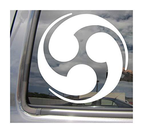 Right Now Decals - Kamon Japanese Symbol #1 - Mon Monsho Mondokoro Family Crest - Cars Trucks Moped Helmet Hard Hat Auto Automotive Craft Laptop Vinyl Decal Window Wall Sticker 10498