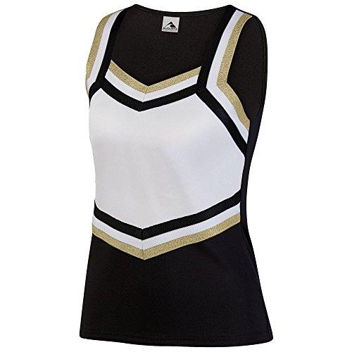 Augusta Sportswear Women's Pike Shell M Black/White/Metallic Gold