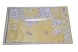 Big Oshi Baby 15-Piece Layette Gift Set, Yellow, 0-3 Months