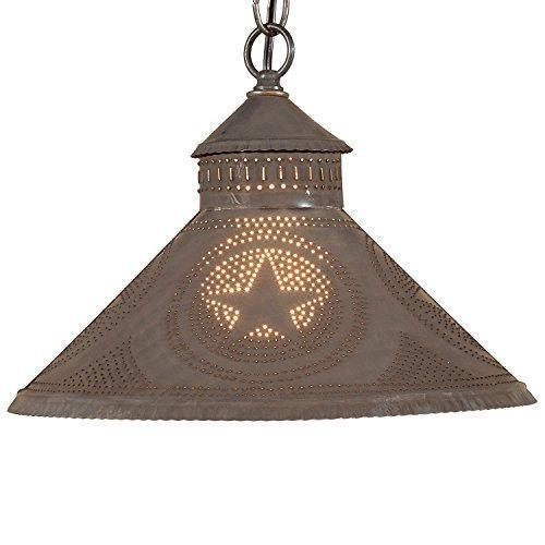 Great Stockbridge Shade Light With Regular Star In Blackened Tin
