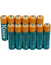 Kinon AAA Rechargeable Batteries Ni-Mh 1.2V 1000mAh (12 Pieces) for Cordless Phone Electric Scale Remote Wireless Mouse Landscape Path Light