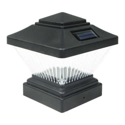 USA Star 8 Black Outdoor Garden Solar LED Post Deck Cap Square Fence Light Lamp by USA Star