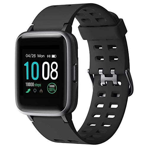 GRDE 2019 Version Smart Watch for Android iOS Phone, Fitness Tracker IP68 Waterproof Health Exercise Smartwatch with Heart Rate Monitor Sleep Tracker Compatible with iPhone Samsung for Men Women