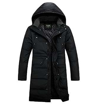 Men Long Down Jacket Winter Coat Duck Down Warm Knee