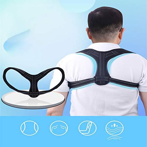 IF.HLMF Correction Belt Unisex,Nylon Braided Belt Designed to Correct Posture Back Clavicle Prevention of Cervical Spondylosis Light, M