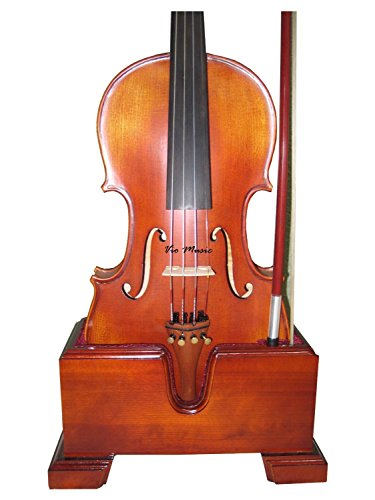 Vio Music 15.5'' Viola and Bow Wooden Holder (Stand), Plush Velvet, Safe and Stronghold by Vio Music