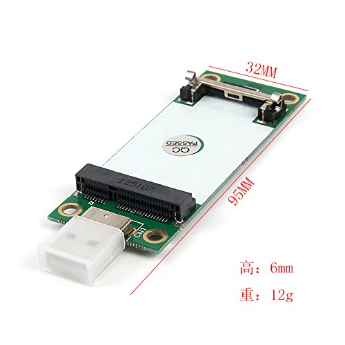 Mini PCI Express WWAN//LTE//4G Module Tester Converter Mini PCIe WWAN Card to USB Adapter with SIM Slot Support 30mm 50mm Wireless Wide Area Network Card
