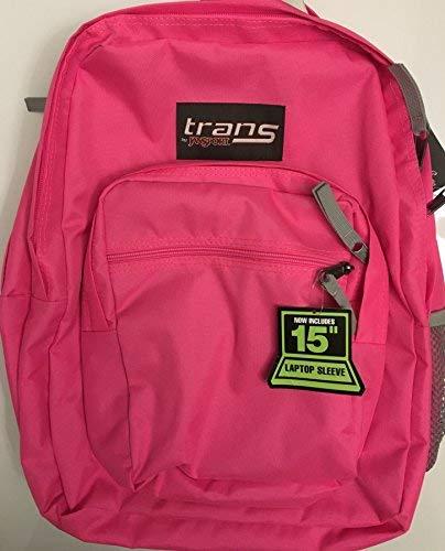 "Trans by JanSport Supermax Fluorescent Pink 15"" Laptop Backp"