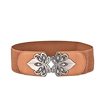 c941a8a684420 Special Beauty Nice Vintage Design Belts For Women Diamond Buckle Wide  Elastic Stretchy Waist Belt Female