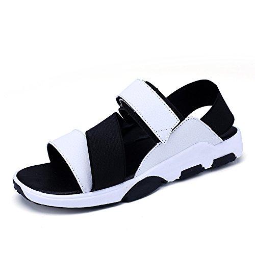 Chaussures Uk7 Taille Cn41 Air Blanc Blanc Eu40 Été Plein Sandales En couleur De Mazhong Hommes Sport Hommes D'été Pour Pour Chaussures De Sport w0ZRq1UBZ