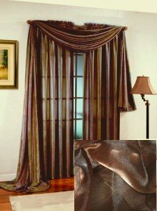 Amazoncom Ombre Sheer Window Scarf Valance Brown 216W