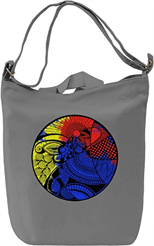 Colourful Circle Borsa Giornaliera Canvas Canvas Day Bag| 100% Premium Cotton Canvas| DTG Printing|
