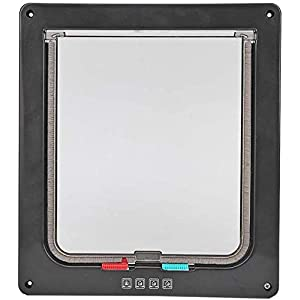 Cat and Dog Door 4 Way Locking Cat Flap Door with Liner Tunnel Magnetic Pet Gate for Interior & Exterior, Easy Install… Click on image for further info.
