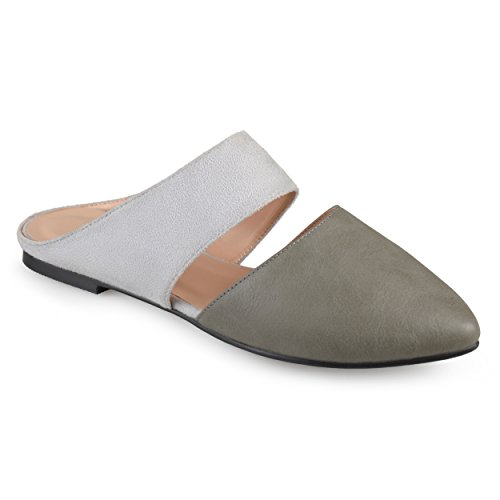 on Grey Faux Suede Faux Leather Mules Slip Collection Journee Womens nRXS6BB