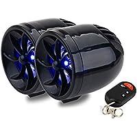 TOOGOO(R) Negro 12V Impermeable Mini Multifuncion Motocicleta Audio