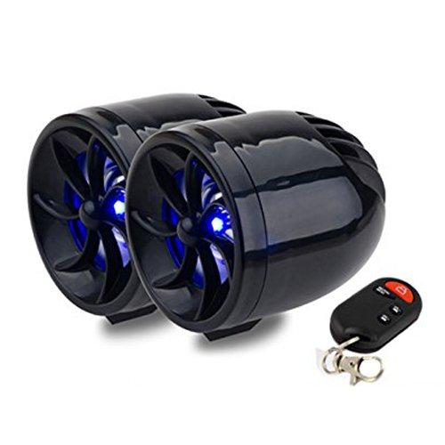 TOOGOO(R) Negro 12V Impermeable Mini Multifuncion Motocicleta Audio Amplificador iPod de tarjetas SD / MMC USB MP3 Jugador FM Radio Coche Alarma ...