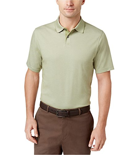 Two Elba Light (Tasso Elba Classic Fit Solid Color Supima Cotton Blend Polo Shirt (Light Fennel, X-Large))