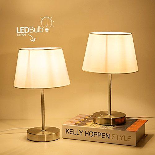 Table Lamp, Bedside Lamp Set of 2, Aglaia Fabri...