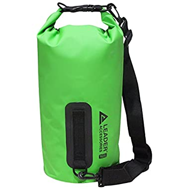 New Heavy Duty Vinyl Waterproof 15L Green Dry Bag for Boating Kayaking Fishing Rafting Swimming Floating and Camping