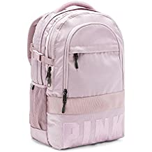 Victoria 's Secret PINK Bling Collegiate Backpack School Bag Dreamy Lilac Straps