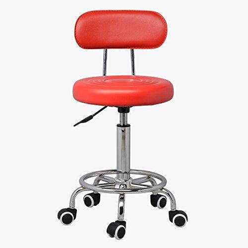 Red GLJ Beauty Barber Work Chair Bar Stool Makeup Chair Bar Chair Bar Stool (color   White)