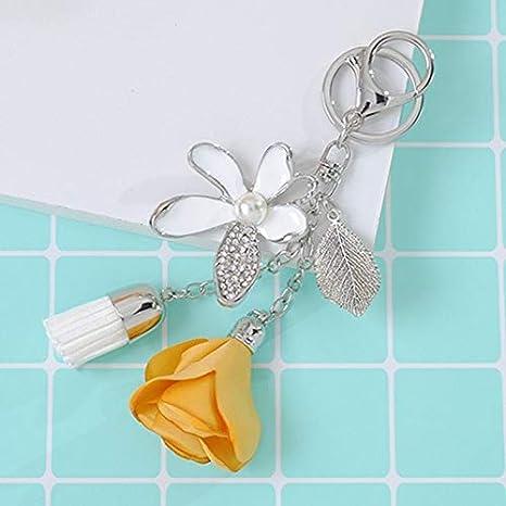 Amazon.com: YPT - Llavero con diseño de flor de rosas y ...