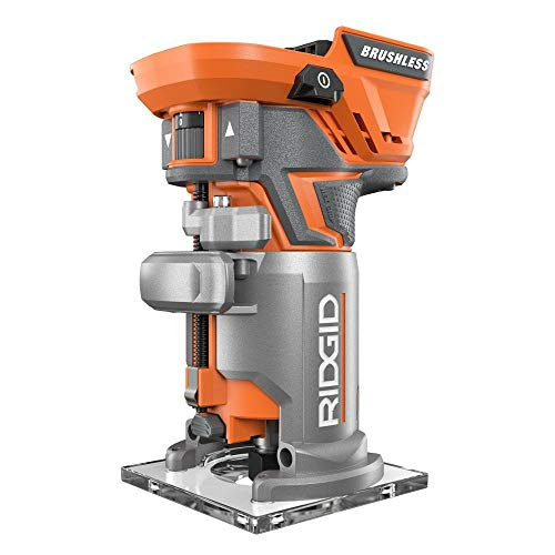 Ridgid R86044B 18-Volt Brushless Compact Router (Renewed)
