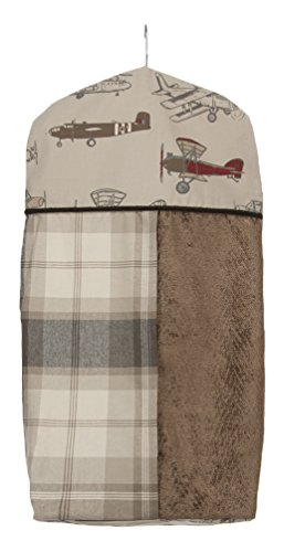 (Glenna Jean Fly-by Diaper Stacker, Taupe/Grey/Blue/Brown/Red)