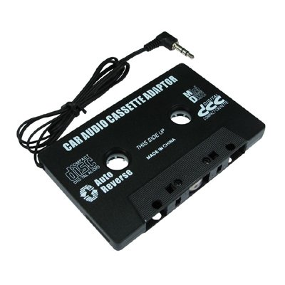 aptii Câble stéréo pour Lecteur cassette à 3.5mm Noir MP3jouer