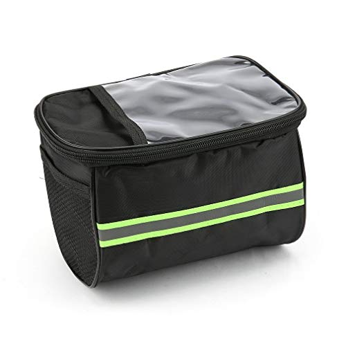 AMPM24US Large Capacity Polyester Bike Bicycle Front Basket Durable Waterproof Tube Handlebar Bag Outdoor Sport Accessories