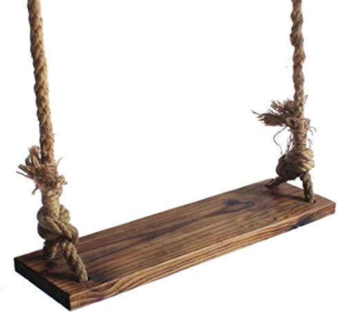 スイング子供のシンプルな純木のスイングシート1〜2人屋内中庭麻ロープチェア高さ調節可能なロープ長さ2.5m