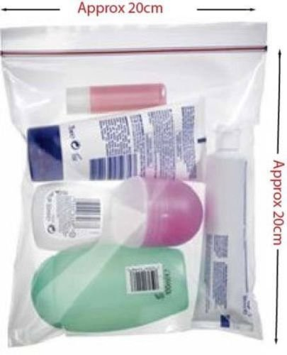 6 X Airport Security Hand Luggage Liquid Bags