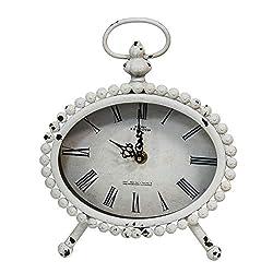 Stratton Home Decor -- Dropship, us home, SUHQX Stratton Home Decor Allie Table Clock, White