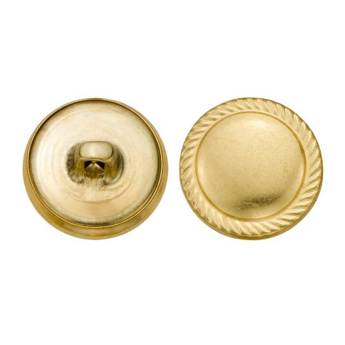 C&C Metal Products 5351 Rope Edge Dome Metal Button, Size 30 Ligne, Gold, 36-Pack by C&C Metal Products Corp