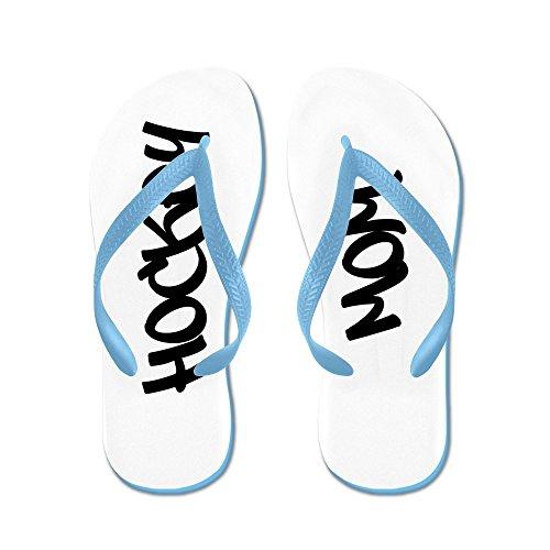 Cafepress Hockey Mom - Flip Flops, Roliga Rem Sandaler, Strand Sandaler Caribbean Blue