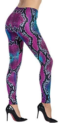 d18d577870 Ndoobiy Women's Printed Leggings Full-Length Regular Size Workout Legging  Pants Soft Capri L1