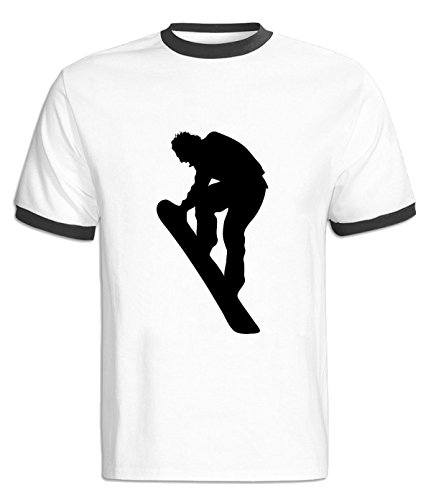 HLZSLt Skiing Silhouette Contrast Color T-Shirt For Mens M - Outlet Buffalo In Malls
