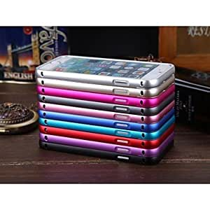 YULIN Ultrathin Push and Pull Slide Aluminium Metal Bumper Case for iPhone 6 Plus (Assorted Color) , Red
